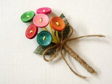 Wooden button boutonniere, by FloroMondo on etsy.com