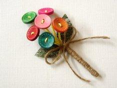Wooden button boutonniere, by FloroMondo on etsy.com