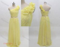 Yellow bridesmaid dress, by KissyBride on etsy.com
