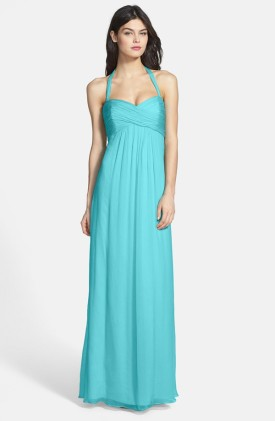 Amsale aqua bridesmaid dress - nordstrom.com
