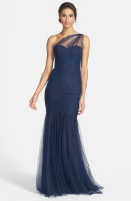 Amsale One Shoulder Tulle Mermaid Gown, from nordstrom.com