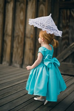 Aqua flower girl dress - www.etsy.com/shop/beaneandco