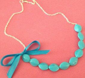 Aqua necklace - www.etsy.com/shop/localovespirate