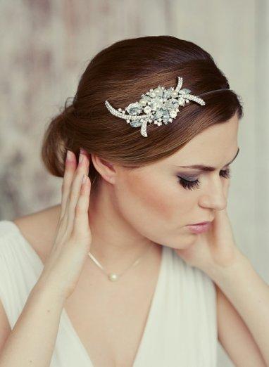 Bridal headband - www.etsy.com/shop/OnlyHandmadeJewelry