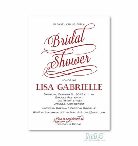 Bridal shower invitation - www.etsy.com/shop/TrinityStStudio