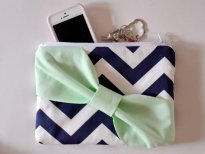 Bridesmaid clutch or cosmetic bag - www.etsy.com/shop/NipponEki