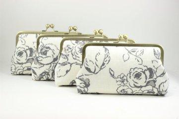 Bridesmaid clutch purses - www.etsy.com/shop/DavieandChiyo