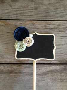 Chalkboard table number - www.etsy.com/shop/PancakesandGlueGuns