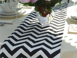 Chevron table runner - www.etsy.com/shop/ThePreppyOwlBoutique