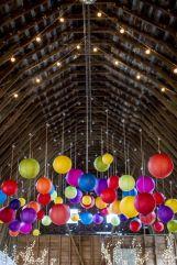 Colourful paper lanterns {via weddingwire.com}