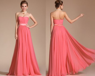 Coral bridesmaid dress - www.etsy.com/shop/STHNAB