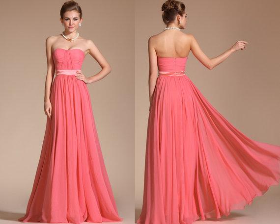 Coral bridesmaid dress – www.etsy.com/shop/STHNAB   The ...
