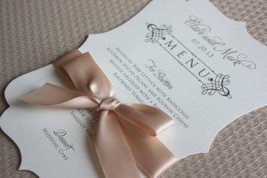 Customised wedding menus - www.etsy.com/shop/lemonseedandco