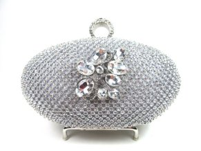 Embellished bridal clutch purse - www.etsy.com/shop/bloomsnbrides