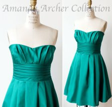 Emerald-green bridesmaid dress - www.etsy.com/shop/AmandaArcher