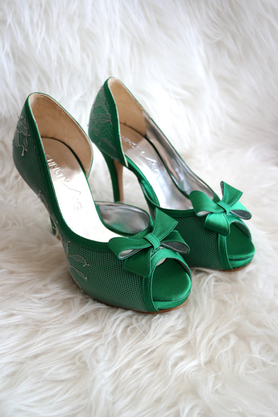Emerald Green Wedding Shoes The Merry Bride
