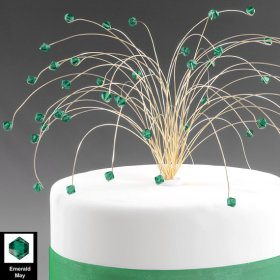 Emerald spray cake topper - www.etsy.com/shop/byapryl