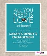 Engagement party invitation - www.etsy.com/shop/blushface