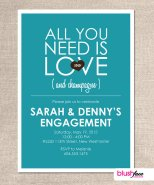 Engagement party invitation - www.etsy.com/shop/blushface