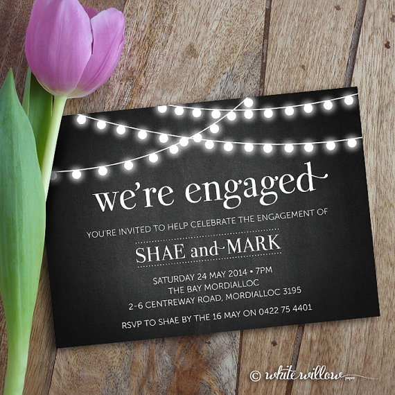 Engagement party invitation for Etsy engagement party invites
