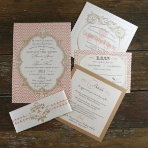 French Baroque-style wedding invitation - www.etsy.com/shop/Bdesignsinvitations