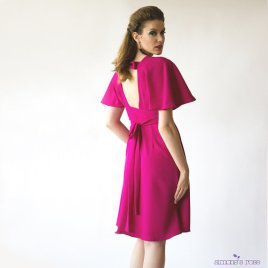 Fuchsia bridesmaid dress - www.etsy.com/shop/SimonesRoseBoutique