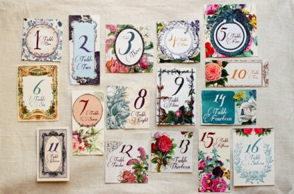 Garden wedding table numbers - www.etsy.com/shop/Lucky2BinLove