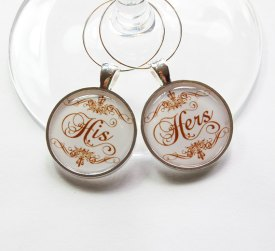 His and hers wine charms - www.etsy.com/shop/KellysMagnets