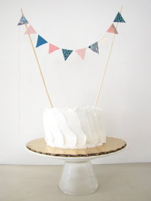 Light pink and teal cake bunting - www.etsy.com/shop/AthenaandEugenia