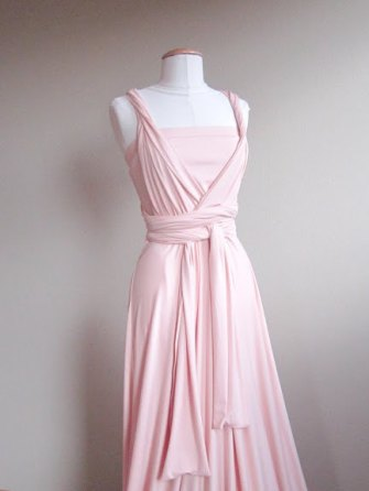 Light pink infinity bridesmaid dress - www.etsy.com/shop/LoveCrushDresses