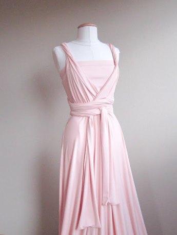 Light pink infinity bridesmaid dress - www.etsy.com/shop/LoveCrushDresses