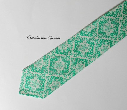 Men's mint tie - www.etsy.com/shop/ARBWed