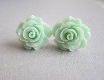 Mint earrings - www.etsy.com/shop/Jewelsalem