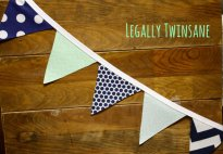 Navy and mint bunting - www.etsy.com/shop/LegallyTwinsane