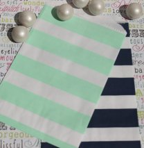 Navy and mint favour or candy bags - www.etsy.com/shop/BakersBlingShop