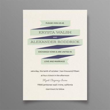Navy and mint wedding invitation - www.etsy.com/shop/SuitePaper
