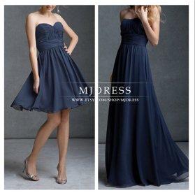 Navy bridesmaid dresses - www.etsy.com/shop/MJDRESS