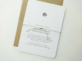 Oak tree wedding invitation - www.etsy.com/shop/mariechangdesigns