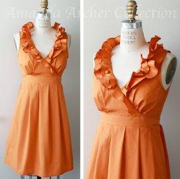 Orange bridesmaid dress - www.etsy.com/shop/AmandaArcher