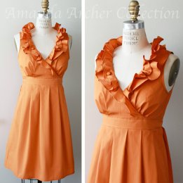 Orange bridesmaid dress - www.etsy.com/shop/AmandaArcher