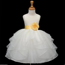 Organza flower girl dress - www.etsy.com/shop/KidsDreamsUSA