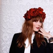 Oxblood floral crown - www.etsy.com/shop/blackmoonsky