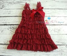 Oxblood flower girl dress - www.etsy.com/shop/HappyBOWtique