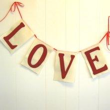 Oxblood love banner - www.etsy.com/shop/LucysArtEmporium