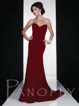 Oxblood Panoply Dress 14605V - tjformal.com