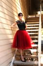 Oxblood tulle skirt - www.etsy.com/shop/HiddenRoom