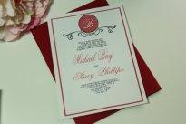 Oxblood wedding invitation - www.etsy.com/shop/LovableInvitations