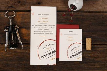 Oxblood wedding invitation - www.etsy.com/shop/ruffhouseart