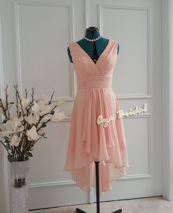 Pale pink bridesmaid dress - www.etsy.com/shop/AyaBridal