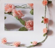 Paper flower garland - www.etsy.com/shop/FlowerDecoration